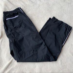 Vintage Nike Mens Black Nylon Lined Athletic Pants